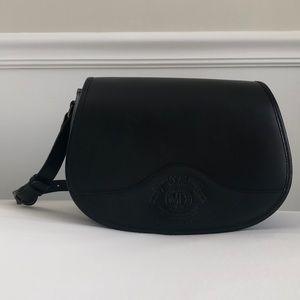 Black Leather Vinatge Ghurka Bag No. 19